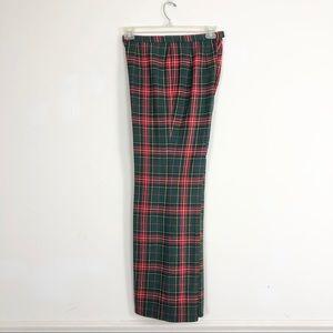 VTG Pendleton Red Plaid 100% Wool pants small 14
